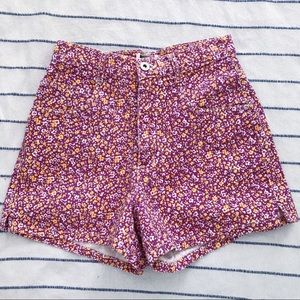 Vintage Floral High Waisted Mom Shorts